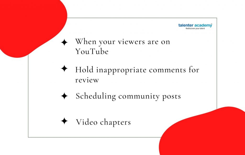 New features of youtube