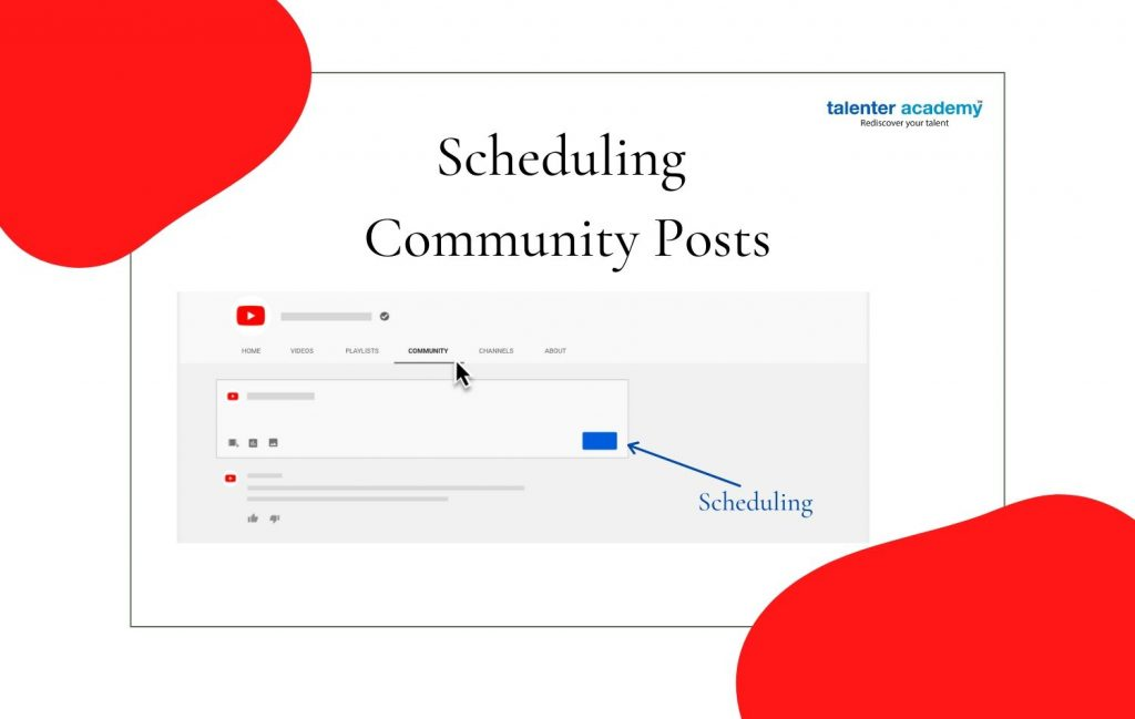 scheduling community posts